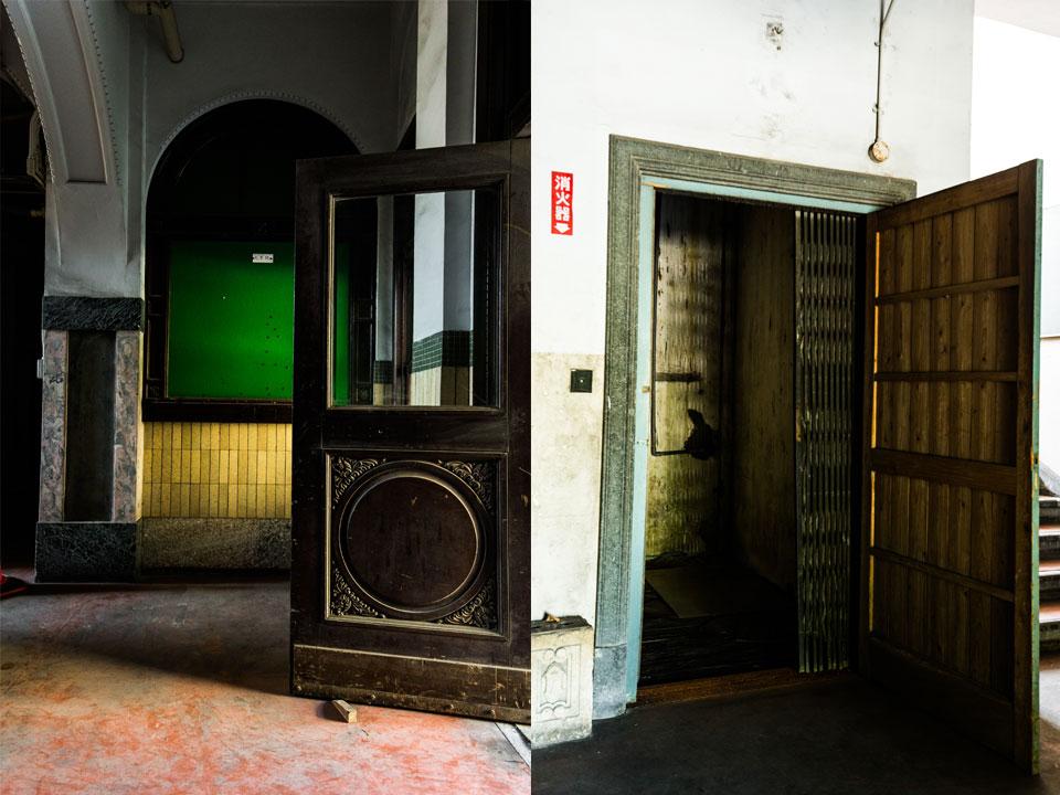 応用物質機能化学教室-扉、エレベータ跡
