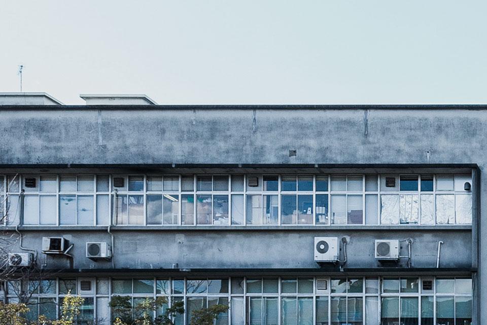 農学部6号館-連続窓